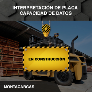 Interpretación de Placa capacidad de datos - Montacargas